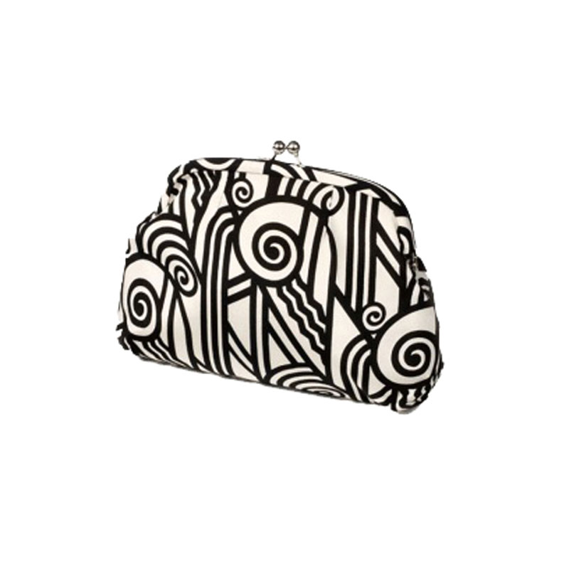 BLACK AND WHITE ART DECO PURSE