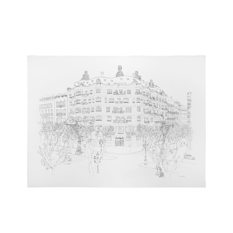 LA PEDRERA DRAWING BY AURORA ALTISENT